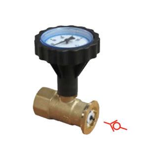 шаровой кран с фланцем под накидную гайку и термометром