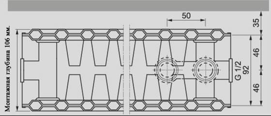 Универсальный стальной радиатор Viessmann тип 22
